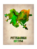 Pittsburgh Watercolor Map Poster by  NaxArt
