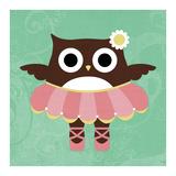 Ballerina Owl Prints by Nancy Lee