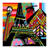 Paris Pop Affiche par  Lobo