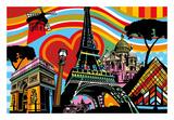 Paris l'amour Posters par  Lobo