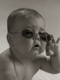 Baby Wearing Granny Glasses Sunglasses Photographic Print by H. Armstrong Roberts