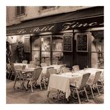 """Brasserie-Restaurant """"Le Petit Zinc"""" Kunstdrucke von Alan Blaustein"""