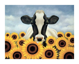 Surrounded by Sunflowers Poster by Lowell Herrero