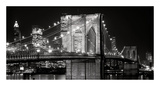 Brooklyn Bridge at Night Posters by Jet Lowe