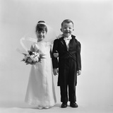 Children Groom Bride Wedding Photographic Print by H. Armstrong Roberts