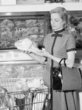 Blond Woman Selecting Poultry in Supermarket Photographic Print by H. Armstrong Roberts