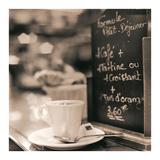 Café, Champs-Élysées Affiches par Alan Blaustein