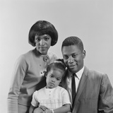 African-American Family Portrait Father Mother Daughter Photographic Print by H. Armstrong Roberts