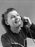 1940s Woman Talking Laughing on Telephone Photographic Print by H. Armstrong Roberts