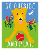 Go Outside and Play Poster por Ginger Oliphant