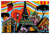 Paris l'amour Posters by  Lobo