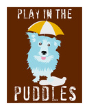 Play in the Puddles Art by Ginger Oliphant