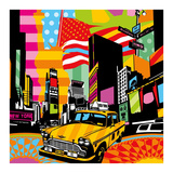 New York Taxi II Art by  Lobo