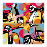 Scooter Pop Prints by  Lobo
