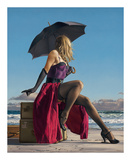 On Crescent Beach Affiches par Paul Kelley