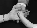 Hands of Family Man Woman Child Mother Father Baby Photographie par H. Armstrong Roberts