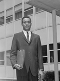 African-American Businessman Holding Briefcase Outdoors Photographic Print by H. Armstrong Roberts