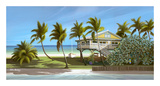 Seagrapes Cottage Print by John Ketley
