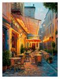 Café Van Gogh 2008, Arles France Print by Haixia Liu