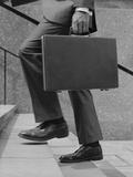 Businessman Legs Walking Up Stairs Hand Holding Briefcase Photographic Print by H. Armstrong Roberts