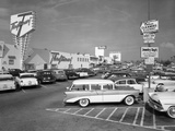 1950s Shopping Center Parking Lot Photographic Print by H. Armstrong Roberts