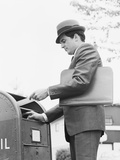 Young Businessman with Briefcase Dropping Letter into Mailbox Photographic Print by H. Armstrong Roberts