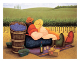 Summer Picnic Poster by Lowell Herrero