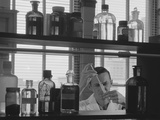 Man Scientist Conducting Experiment Test Tube Liquids Photographic Print by H. Armstrong Roberts