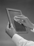 Male Hands Wiping Slate Clean Photographic Print by H. Armstrong Roberts