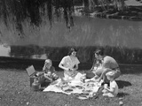 1950s Family Mother Father Son Daughter Picnicking Photographic Print by H. Armstrong Roberts