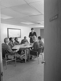 Group 7 Executive Business People Conference Table Viewed Through Open Door Photographie par H. Armstrong Roberts