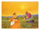 Picking Wildflowers Póster por Lowell Herrero