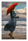 Red Umbrella Prints by Paul Kelley