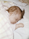 1960s Sleeping Baby Infant Photographic Print by D. Corson