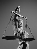 Statue of Blind Justice Holding Scales Photographic Print by H. Armstrong Roberts