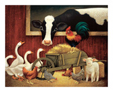 All My Friends Poster by Lowell Herrero