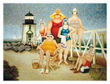 Beach Vacation Plakat af Lowell Herrero