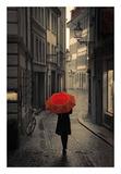Red Rain Poster van Stefano Corso