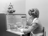 1970s Receptionist Working Answering Office Telephone Switchboard Wearing Headset Photographic Print by H. Armstrong Roberts