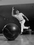Young Man Having Just Thrown a Bowling Ball Photographic Print by H. Armstrong Roberts