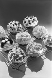 Cupcakes on Metal Bakers Cooling Rack Decorated with Icing Sprinkles Chips Photographic Print by H. Armstrong Roberts