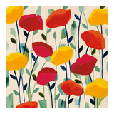 Cheerful Poppies Prints by Carrie Schmitt