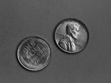 Abraham Lincoln Penny Heads and Tails Photographie par H. Armstrong Roberts