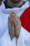 Catholic Priest's Hands, Paris, France, Europe Photographic Print by  Godong