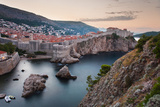 Dubrovnik and the City Walls at Sunrise Photographic Print by Matthew Williams-Ellis