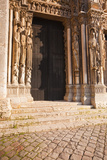 Part of the Tympanum on the West Front of Chartres Cathedral Photographic Print by Julian Elliott
