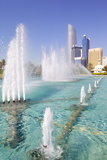 Contemporary Architecture and Al Markaziyah Gardens and Fountain Photographic Print by Frank Fell