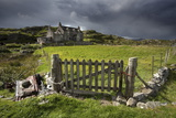 Abandoned Croft Beneath a Stormy Sky Photographic Print by Lee Frost