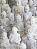 Marble Buddha Images at a Stone Carver's in Amarapura Photographic Print by Lee Frost