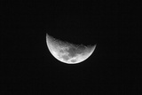 Nearside Half Moon Showing the Following Maria Photographic Print by Rob Francis